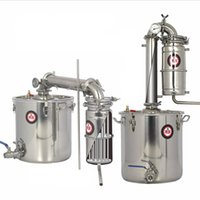 Wholesale wine brew - 25L 45L 65L Distiller Bar Household equipment wine limbeck distilled water baijiu large capacity vodka maker brew alcohol whisky