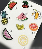 Wholesale Collections Etc Wholesale - Wholesale lot Small fruit collection banana , cherry , water melon etc Embroidered Iron On Patch diy about 3-5cm