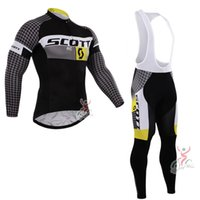 Wholesale Cycling Spring Set - 2017 Scott Cycling Jersey Ropa ciclismo mens cycling clothing Bicycle maillot bibs pants set spring autumn mtb bike sportswear C0606