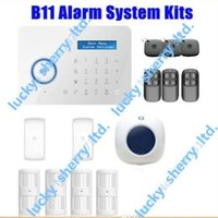 Wholesale Security Door Card System - Chuango B11 TouchKeypad GSM Phone SMS SIM CARD   PSTN Wireless Home Security Burglar Alarm System Indoor siren