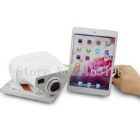 Wholesale Portable Mini Projector Cheapest - Wholesale-Hot Selling Cheapest E03 Portable Mini LED Projector HD Video Proketor Support 1080P Projektor Proyectores VGA USB HDMI AV TV