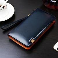 Wholesale Mens Leather Bags Wholesale - Wholesale- Baellerry Mens' Zipper PU Leather Wallet Men Clutch Hand Bag Male Fashion Clutch Purse