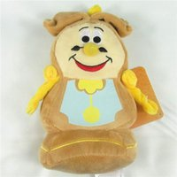 "Wholesale Doll Clock - Top New 7"" 17CM Cogsworth The Clock Plush Doll Beauty and The Beast Anime Collectible Stuffed Dolls Kids Gifts Soft Plush Toys"