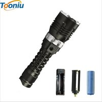 Wholesale Military Grade Flashlights - LED Diving Flashlight Torch 5000LM CREE XM-l2 Underwater 120m Brightness Waterproof LED Torch Military grade flashlight