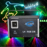 Wholesale Top Dj Laser Lights - Free Shipping 1.5w analog 45kpps RGB Top quality and good price new mini laser light, outdoor christmas laser light system