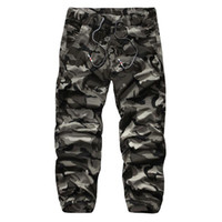 Wholesale yellow pants casual for men - Wholesale- New Autumn High Quality Men'S Cargo Pants Camouflage pants Cotton Trousers For Men Comfortable Casual Long Pants Camo Jogger
