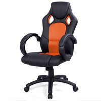 Wholesale High Back Car Seats - High Back Race Car Style Bucket Seat Office Desk Chair Gaming Chair Orange New