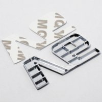 Car Chrome Metal V6 Emblem Badge 3D Decal Trunk Auto Motor Sticker Car Styling Sticker para Ford Fiesta Kuga Ranger Galaxy Fusion