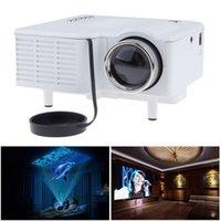 uc28 hdmi achat en gros de-Unic UC28 Mini Projecteur LED Projecteurs portables Lecteur multimédia Jeu de cinéma maison 1080P Compatible VGA HDMI USB TF Beamer