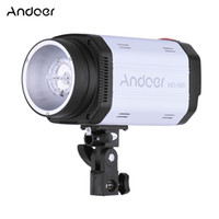 Wholesale Photography Strobe - Wholesale-Andoer MD-300 Photo Studio Strobe 300WS GN58 Photography Studio Flash Light with 50W Modeling Lamp for Photography Shooting