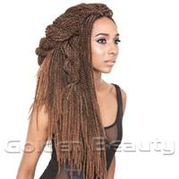 Wholesale Wholesale Braids Senegal - Wholesale- New Fashion Folded Senegalese Synthetic Hair Extension 18 inch Black Color Soul Twist Bulk Senegal Twist Braid Crochet Braids