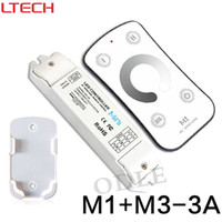Wholesale voltage dimmer - New Led Dimmer RF Wireless Controller DC12-24V Remote With CV Constant Voltage Receiver Light Dimming M1+M3-3A Free Shipping