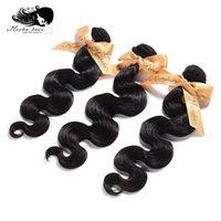 продукты для девственных бразильских волос оптовых-Бесплатная доставка 7A мокко волос Продукты 10 шт. лот боди-Вэйв бразильские девственные человеческие волосы расширения Оптовая натуральный цвет