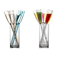 Wholesale Champagne Glasses Wholesale - Acrylic Cocktail Beach Cup Clear Cocktail Wine Cup Whiskey Champagne Glass Wedding Party Night Bar Tools OOA3280