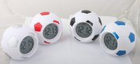 Wholesale Repeating Clock - Digital Backlight Temperature Display Sounds Control Football Soccer Clock LED Alarm Clock Repeating Snooze Clock