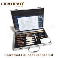 Wholesale Shotgun Cleaning Kit - ARMIYO UCCK Universal Caliber Bronze Brush Cleaner Kit set Pistol Hand Gun Rifle Shotgun Airsoft Airgun Cleaning Hunting Gun Accessories