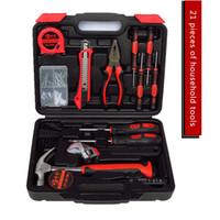 Wholesale Tech 21 Wholesale - Hi-tech 21 Pcs Homeowner's Tool Kit General Household Hand Tools Set Home hardware screwdriver multi tools