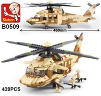 Wholesale Uh Helicopter - Sluban M38-B0509 Building Blocks UH-60L Black Hawk Helicopter model Certified Product 439PCS Building Blocks Learning Education Kid Toys