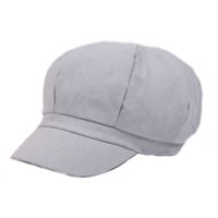 Wholesale Denim Newsboy Hats - Wholesale-Fashion Women Unisex Beret Hats Octagonal Denim Newsboy Caps Short Eaves Dome Leisure Style Free Shipping