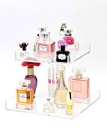 Wholesale 2 TierS clear acrylic Perfume Organizer lucite Makeup Organizer Perfume Tray Makeup Organizer