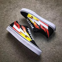 Wholesale Flame Fabrics - 2017 Best Seller Kanye West Revenge X Storm Pop-Up Flame Calabasas Stylist Ian Connors Skateboarding Shoes Vanse Authentic Casual Shoes