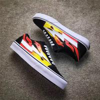 Wholesale Fabric Pop Up - 2017 Best Seller Kanye West Revenge X Storm Pop-Up Flame Calabasas Stylist Ian Connors Skateboarding Shoes Vanse Authentic Casual Shoes