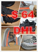 Wholesale Eva Bags - DHL free shipping black red Season 3 SPLY 350 Boost V2 With Box 2016 Black Grey Orange Running Shoes Sneakers 350 Boost V2 bag size