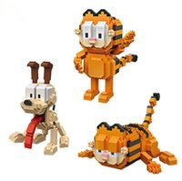 Wholesale Stand Action Toy - 3pcs lot 630+ pcs LOZ Dog And Two Style Cats Building Block Diamond Microblock Toys Cute Standing And Crawl Action Figures