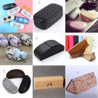 Wholesale New Fashion Hard Metal Spectacle Case Wooden Glasses Case Pattern Pure Fresh Concise Design Free Gift