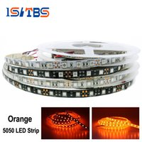 5050 Led Streifen Licht Orange Wasserdicht / kein wasserdichtes DC12V flexibles Neonband 60 LEDs / m 5M / Lot