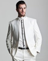 Vente en gros - 2016 Special Design Asian Style Costumes de mariage pour hommes Robe de soiree Tailcoat Dinner Party Clothing (veste + pantalons + cravate)