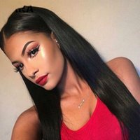 Wholesale best wigs weaves resale online - Full Lace Wig Best Light Yaki Full Of My Shoes And Baby Wig Virgin Brazilian Straight Before Baseline Silk Woven Black Women As Wig Kabell