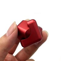 Wholesale 2017 New Aluminum Alloy Magic Cube Hand Spinner Whirlwind Square Finger Gyro EDC Decompression Toys DIY toy