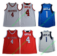 Wholesale Basketball Pick - Mens New Material Sport Jerseys New Draft No.9 Pick #1 Dennis Smith Jr. 4# College Basketball Jerseys White Blue Red Free Shipping