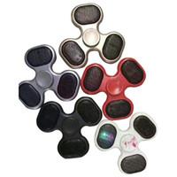 Wholesale Speaker Sound - Finger Spinner With Bluetooth Light Speaker Music sound Fidget Spinner EDC Tri Spinning Top Plastic Spinner Light Gyro Toys