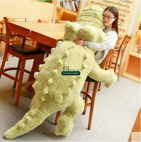 Wholesale Big Huge Cute - Dorimytrader 230cm Huge Cute Soft Animal Crocodile Plush Pillow Doll 91'' Big Cartoon Alligator Toy Kids Play Doll Gift D60116