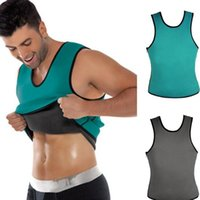 Wholesale Tank Top Shapers Wholesale - High quality Men Ultra Sweat Sport Muscle Shirt body shapers Gym Fitness Work Out Clothing Shapewear mens tank tops