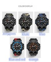 Wholesale Watches Army Style - 2017 New HOT style Fashon GWG men's sports watches GW1000 Display LED Fashion army military shocking watches men Casual Watches