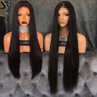 Wholesale Human Hair Middle Part Wigs - Full Lace Wigs With Baby Hair 100% Unprocessed Brazilian Virgin Human Hair Wigs For Black Women Middle Part Lace Front Wig Natural Hairline