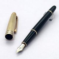 ingrosso nota migliore-La migliore penna di lusso Monte M.S.T nero con penna stilografica d'oro di alta qualità penna di conversione inchiostro consegna gratuita