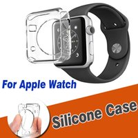 Wholesale apple watch case - 38mm mm Ultra Thin Slim Transparent Crystal Clear Soft TPU Rubber Silicone Protective Cover Case Skin For Apple Watch iWatch Series