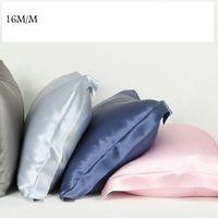 Wholesale yellow silk pillows - Wholesale- Pillow Case 16m m Single Face Envelope style Silk Pillowcase Satin Pillow Cover 100% pure mulberry Silk pillow case