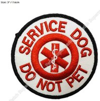"Wholesale Services Animals - 3"" Service Dog Do Not Pet patch Guide Animal Medical Assistance Iron On Gear Vest Emblem Halloween Costume Embroidered badge"