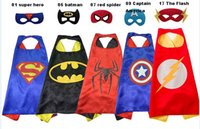 Wholesale Boys Super Hero Costumes - hot kids super hero capes 1 Cape+1 Masker chrismas gift boy children supe rhero spide rman vader super hero cape mask free shippin