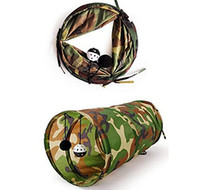 Vrac Jouets Pour Chats Gros Pas Cher-Pet Tunnel Cat Play Camouflage Color Funny Long Kitten Jouer Jouets Jouets en vrac collés Jouer en gros