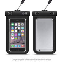 Wholesale waterproof cell phone bag pouch resale online - Clear IP68 WaterProof Bag Protective Cell Phone Case Pouch Underwater Diving Swimming Sports for Smart Phone Up to Inch