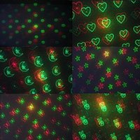 Wholesale Mini Tripod Led - 6 Patterns 150MW Mini Red & Green Moving Party Laser LED Stage Lights laser projector With Tripod 110-240V lights Disco KTV DJ party light
