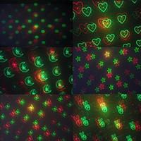 Wholesale Mini Moving Party Laser - 6 Patterns 150MW Mini Red & Green Moving Party Laser LED Stage Lights laser projector With Tripod 110-240V lights Disco KTV DJ party light
