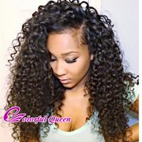 indische mikro flechthaar großhandel-Indisches lockiges reines Haar bündelt 3 PC / Los billig indisches Afro verworrenes menschliches Haar spinnt rohes indisches lockiges reines Haar