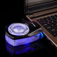 Wholesale Strong Cool Laptop Fan - Wholesale- Mini 5V Portable Strong Exhaust Laptop Notebook Air Cooler Radiator Cooling Fan